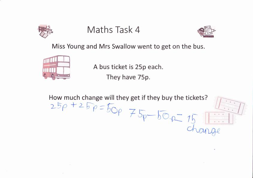 And been busy solving Maths problems!