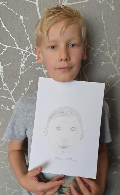 Kian's fantastic self portrait!