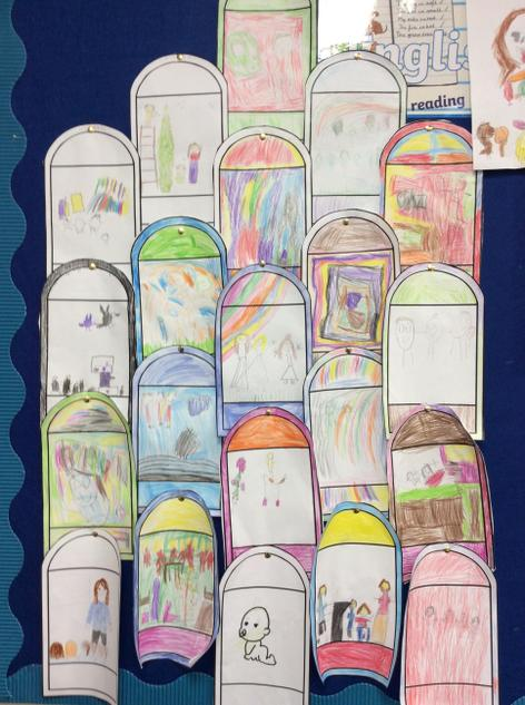 We made stained glass windows.