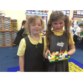 Our Lego boats with a moving flag