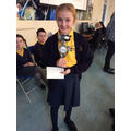 23.11.18 - This week's winner, Isabelle... Again!