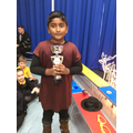 06.12.19 - This week's winner, Karishan