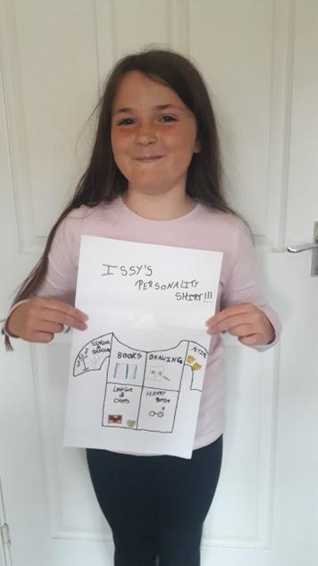 Issy designs a t-shirt all about her!