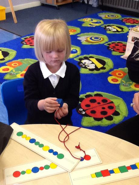 Using our fine motor skills.