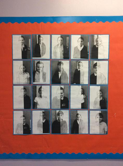 Year 6- self portraits