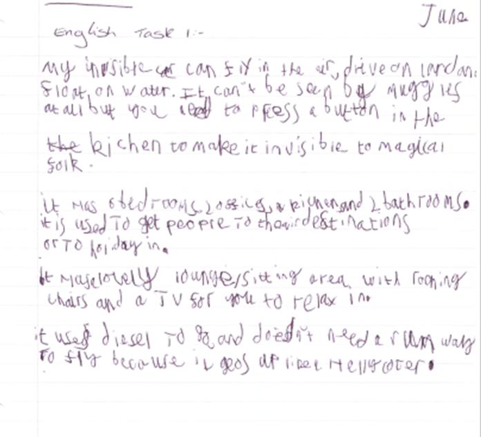 Tyler has written a description for his transport