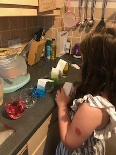 Lily had a go at a fab colour changing experiment!