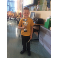 20.04.18 - This week's winner, Oliver!