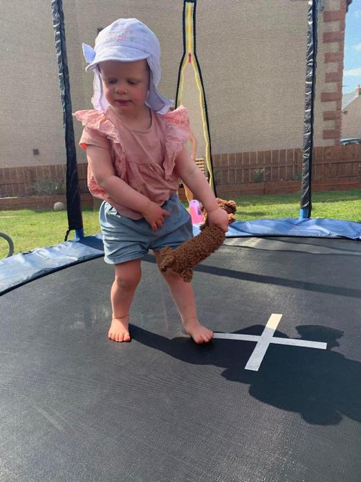 Lots of bouncing on the trampoline!