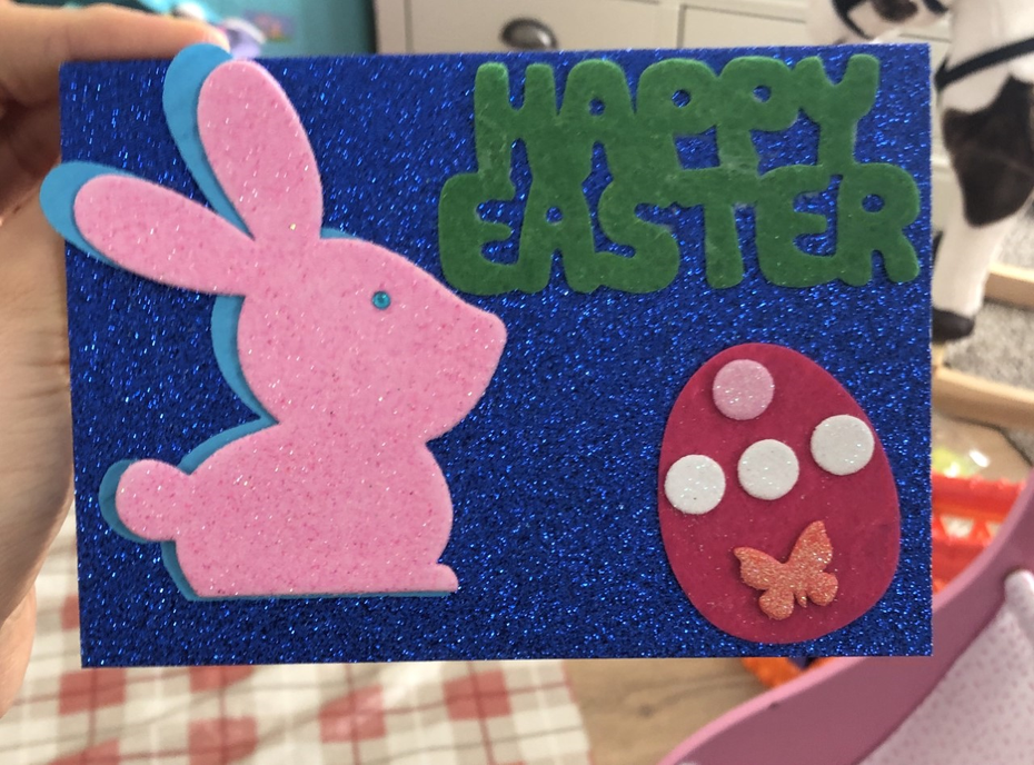 Our Easter cards - I'm quite pleased with them!