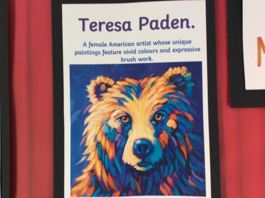Artist Theresa Paden's colourful bear portraits.