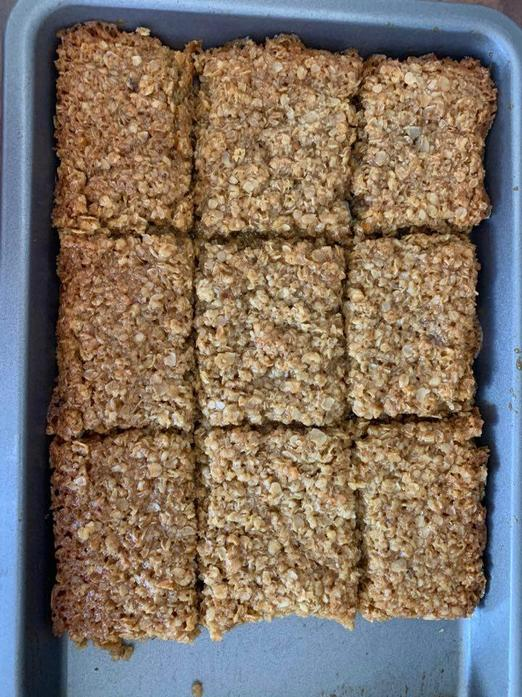 I made my first batch of flapjack! Yum!