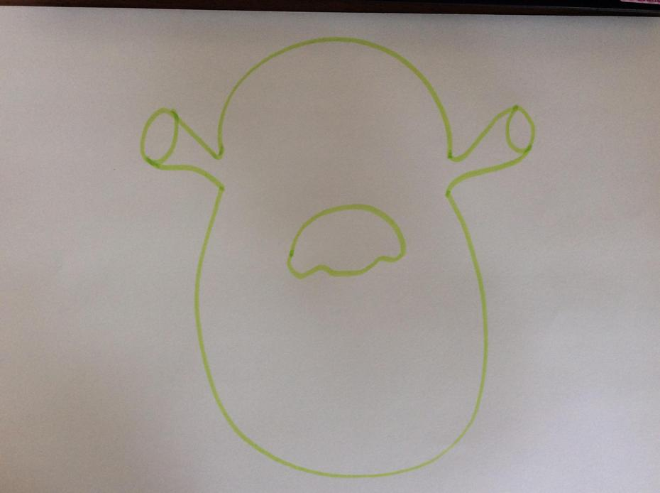 Draw a nose.