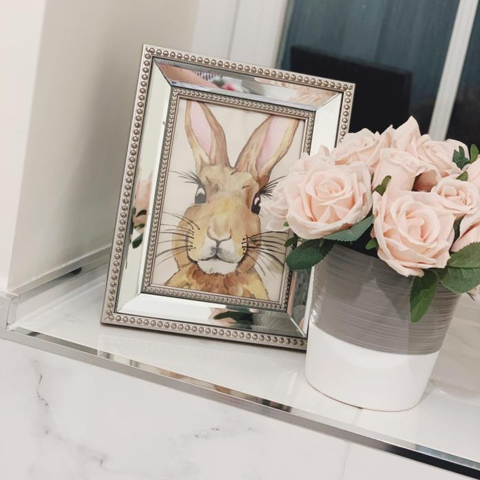I framed my rabbit painting.