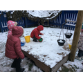 Scooping, mixing and pouring snow potions.