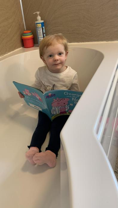 Ivy reading in the bath :)