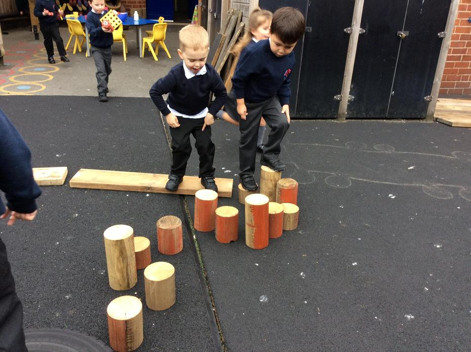 Working out which way to balance across.