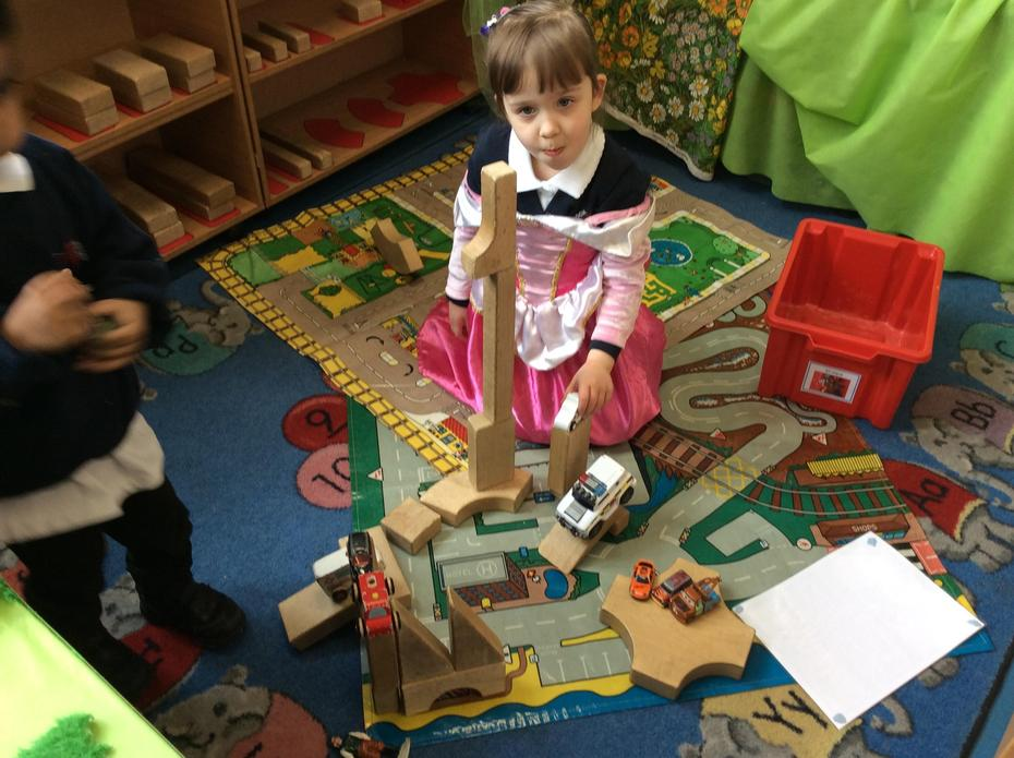 Building towers.