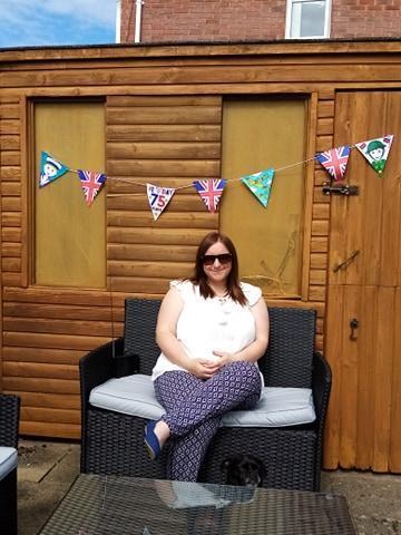 Miss Clark built some new garden furniture!
