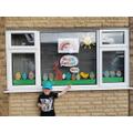 An Easter window display