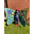 Giant butterfly wings!
