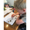 Drawing coins
