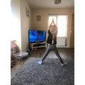Keeping fit with yoga!