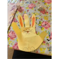 Drawing around our hand to make a bunny