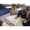 Y6 Planning for their Orient Express advertisement