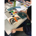 Enjoying water colours in Y3