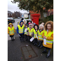 EYFS posting their Christmas letters