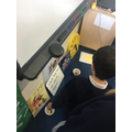 Voting for their favourite story in Y1