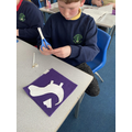 Pattern pieces and textiles in Y6