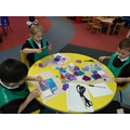 More textiles in Reception