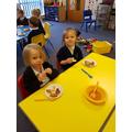 Yn enjoying Chinese Banquet