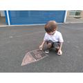 EYFS chalk drawings