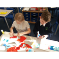 Collage making in Y4