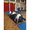 Gymnastics competition - we were runners up