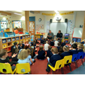 Rev Spittle talked about weddings to EYFS