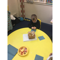 Y1 making a gingerbread house