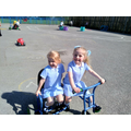 Enjoying the sun in EYFS