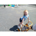 EYFS learning outside on a beautiful sunny afternoon