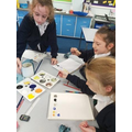Sunset colour mixing in Y5