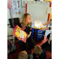 EYFS wish Mrs Collinson Happy Birthday