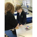 Practising measuring and cutting skills in Y5