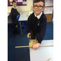 Practising sawing in Y5