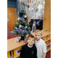 EYFS Decorating there tree