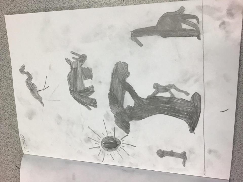 Flamingo, tree, monkey, giraffe and rhino