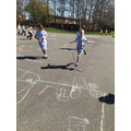 Daily mile in Y3 with skipping ropes