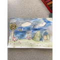 Water Colours Easter Cards in Y6